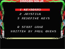 Title screen of Dragon World on the MSX.