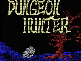 Title screen of Dungeon Hunter on the MSX.