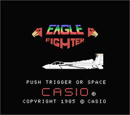 Title screen of Eagle Fighter on the MSX.