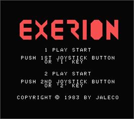 Title screen of Exerion on the MSX.