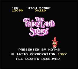 Title screen of FairyLand Story, The on the MSX.