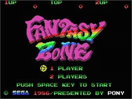 Title screen of Fantasy Zone on the MSX.