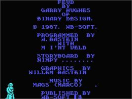 Title screen of Feud on the MSX.