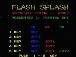 Title screen of Flash Splash on the MSX.