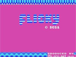 Title screen of Flicky on the MSX.