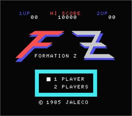 Title screen of Formation Z on the MSX.