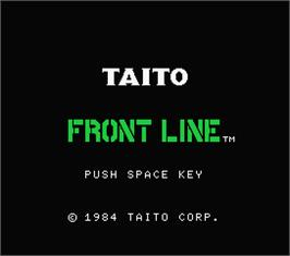 Title screen of Front Line on the MSX.