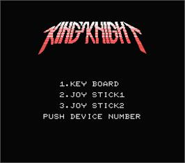 Title screen of Future Knight on the MSX.
