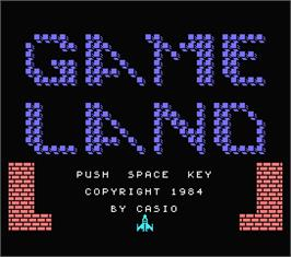 Title screen of Game Over on the MSX.