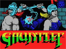 Title screen of Gauntlet on the MSX.