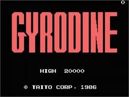 Title screen of Gyrodine on the MSX.