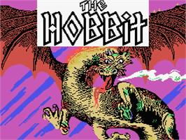 Title screen of Hobbit on the MSX.