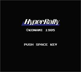 Title screen of Hyper Rally on the MSX.