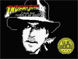 Title screen of Indiana Jones and the Temple of Doom on the MSX.