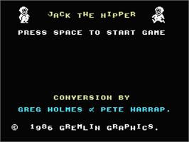 Title screen of Jack the Nipper on the MSX.