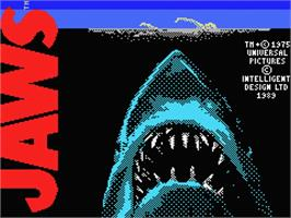 Title screen of Jaws on the MSX.