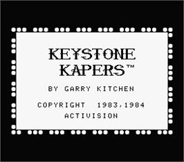 Title screen of Keystone Kapers on the MSX.