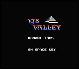 Title screen of King's Valley on the MSX.