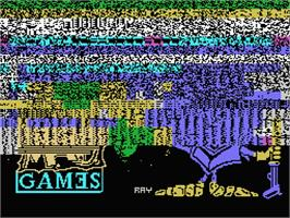 Title screen of Knight Tyme on the MSX.