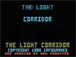 Title screen of Light Corridor on the MSX.