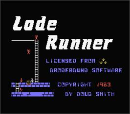 Title screen of Lode Runner on the MSX.