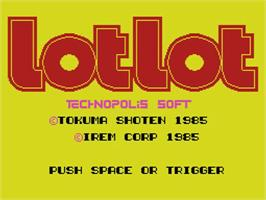 Title screen of Lot Lot on the MSX.