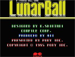 Title screen of Lunar Ball on the MSX.