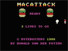 Title screen of MacAttack on the MSX.