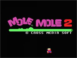 Title screen of Mole Mole 2 on the MSX.