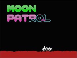 Title screen of Moon Patrol on the MSX.