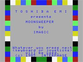 Title screen of Moonsweeper on the MSX.