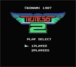 Title screen of Nemesis 2 on the MSX.