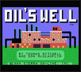 Title screen of Oil's Well on the MSX.