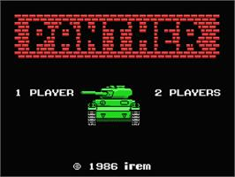 Title screen of Panther on the MSX.