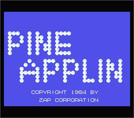 Title screen of Pine Applin on the MSX.