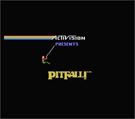 Title screen of Pitfall on the MSX.