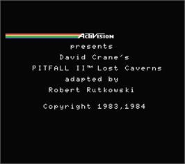 Title screen of Pitfall II on the MSX.