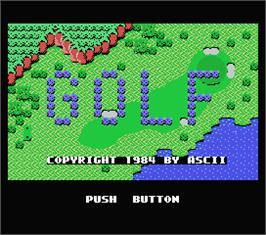 Title screen of Queen's Golf on the MSX.