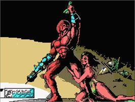 Title screen of Rad Warrior on the MSX.