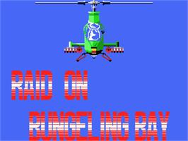 Title screen of Raid on Bungeling Bay on the MSX.