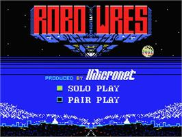 Title screen of Robo Wres 2001 on the MSX.