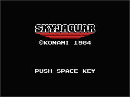 Title screen of Sky Jaguar on the MSX.