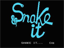 Title screen of Snake It on the MSX.