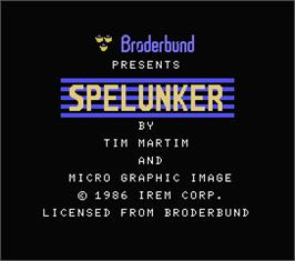 Title screen of Spelunker on the MSX.