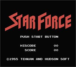 Title screen of Star Force on the MSX.