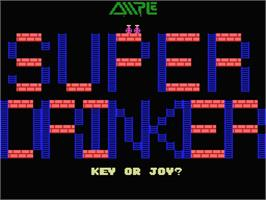 Title screen of Steve Davis Snooker on the MSX.