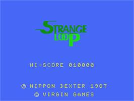 Title screen of Strange Loop on the MSX.