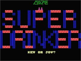 Title screen of Super Drinker on the MSX.