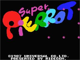 Title screen of Super Pierrot on the MSX.