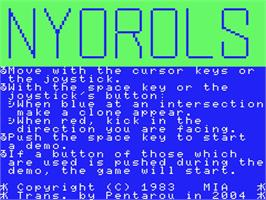 Title screen of Terrorpods on the MSX.
